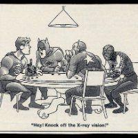 Funny comic of Batman scolding Superman at the Poker Table. See LinkedIn for Best Internet Casino - U.S.A. Online Casinos https://www.linkedin.com/in/usaonlinecasinos - #OnlineCasino #Slots #CasinosOnline