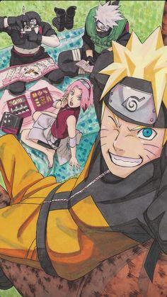 Naruto Shippuden Sasuke, Naruto Kakashi, Anime Naruto, Fan Art Naruto, Naruto Team 7, Naruto Sasuke Sakura, Naruto Cute, Sakura Haruno, Boruto