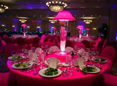 5 Ideas for LED Centerpieces - Light Up Lamps for a Bat Mitzvah, Wedding or Party - mazelmoments.com