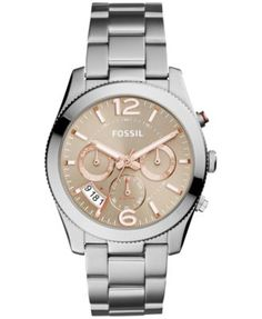 Fossil Women's Perfect Boyfriend Stainless Steel Bracelet Watch 39mm ES4146 $145.00 A taupe multifunction dial almost glows against the stunning stainless steel bracelet and case of this Perfect Boyfriend watch by Fossil.