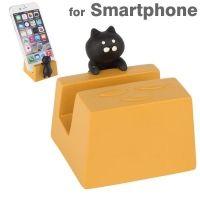 데꼴 Nya 스마트폰 스탠드 - 검은고양이 ※ 일본 휴대폰 홀더 거치대 악세사리