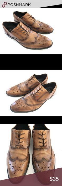 7129bb1804a Aston Grey Mercer Cognac Leather wingtip Aston Grey Mercer Cognac Leather  wingtip Brown Tan Dress Shoes