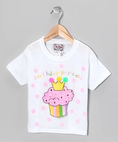 Take a look at this White & Pink Cupcake Tee - Toddler & Kids by I'm Yours on #zulily today!