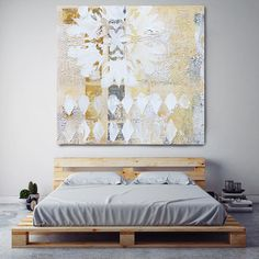 Geometrical Abstract Art, Wall Decor, Extra Large Abstract White Yellow Gray Canvas Art Print up to by Irena Orlov Canvas Art Prints, Painting Prints, Rustic Art, Art Original, Art Abstrait, Art Mural, Mixed Media Collage, Abstract Wall Art, Decoration