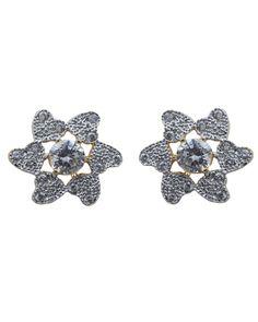 Waama Jewels Clear Crystal Bronze Stud Earring, fit every cloths, metal earring, gift for wife, Beautifull today, earring for girls wje141 - Waama Jewels Earring