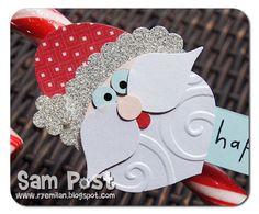 Ryemilan's Ramblings: Punch Art Santa Candy Cane Tag