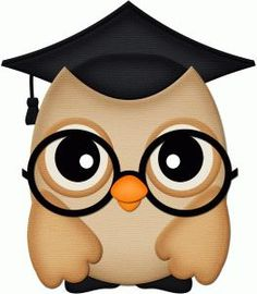 Owl w/Graduation Cap & Black Spectacles Idea Graduation Clip Art, Graduation Cards, Owl Clip Art, Owl Art, Silhouette Online Store, Owl Crafts, Cute Clipart, Cute Owl, Punch Art