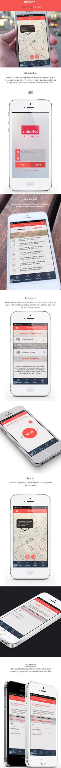 Meditel Et Moi App Redesign