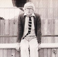 David Hockney, by Robert Mapplethorpe History Of Photography, Art Photography, Pop Art Movement, Robert Mapplethorpe, Preppy Men, Found Art, David Hockney, Effortless Chic, Figure Painting