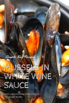 This is a popular one-pot mussel recipe, often served with chips as moules frites. The mussels are steamed in a wonderful broth made with juices from the mussels, garlic, shallots and white wine. Check out our website where could you find the written step by step recipes with images and videos to teach you how to become a better cook at home! Fun Cooking, Cooking Recipes, Mussels White Wine, Wine Sauce, Recipe Boards, Cook At Home, World Recipes