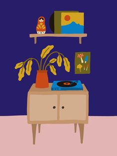 Vinyles Lisa, Toy Chest, Storage Chest, Illustration, Toys, Furniture, Home Decor, Vinyl Records, Frames