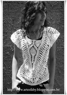 Blusa See More em Croch� de Grampo