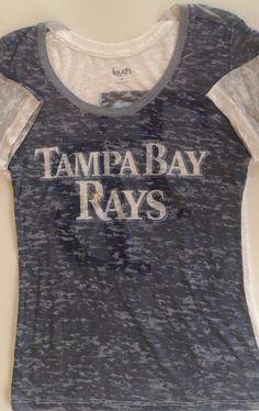 Women's Ladies TAMPA BAY RAYS T shirt Top size medium M White #TouchbyAlyssaMilano #TampaBayRays