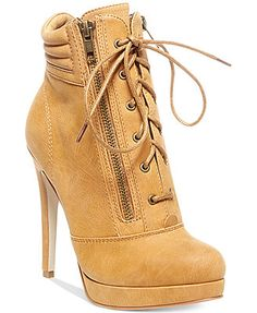 Madden Girl Hartson Lace Up Dress Booties