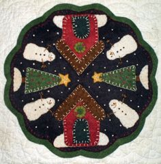 Penny rug patterns free | Winter Village - Wool Penny Rug
