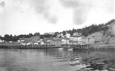 Newport waterfront on Yaquina Bay, 2 1 Next Original Collection: E. Wilson Photographic Collection It. Newport Oregon, Historical Pictures, Oregon Coast, Digital Image, New York Skyline, Past, History, The Originals, City