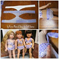 Doll Craft – Make No Sew Bikinis for your Dolls