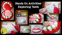 Hands On Activities to Teach About Dental Health.  Link to a free printable, too!
