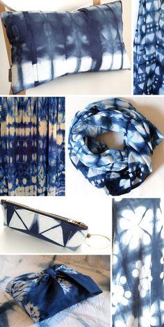 diy shibori tischdecke und geschirrt cher indigo shibori cyanotype pinterest textilien. Black Bedroom Furniture Sets. Home Design Ideas