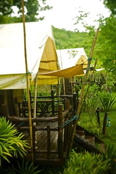 Safari Tent River Camp in Thailand Luxury Yurt, Luxury Travel, River Camp, Tent Awning, Camping Glamping, Out Of Africa, Adventure Is Out There, Thailand Travel, Southeast Asia