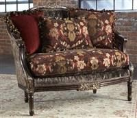 Crushed velvet settee, Luxury fine home furnishings and high quality furniture for any home decor.