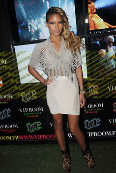 Vivid: Style File: Cassie Ventura not found of hair and clothing. I prefer the make up.