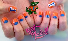 Florida Gators Nails Gotta do this soon!! Game day in less than 2 weeks!!