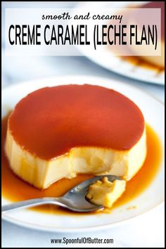 Rick, smooth, and creamy! The Ultimate Creme Caramel (Leche Flan) Recipe - a perfect balance of a sweet egg custard with a slight punch of lemon. Pudding Desserts, Philipinische Desserts, Custard Desserts, Custard Recipes, Filipino Desserts, Baking Recipes, Dessert Recipes, Filipino Leche Flan, Flan Au Caramel