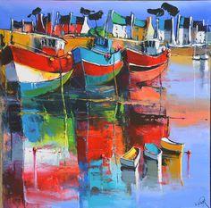 1119 - Les barques quai - 80x80
