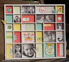 me & my scraps: thrifty thursday ~ wooden photo collage