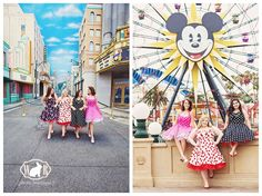 Disneyland senior pictures in ModCloth dresses by White Rabbit photo boutique.