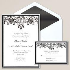 Invitation Embossed Graphics of Texas weddinginvitations