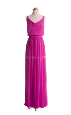 Exquisite Fuchsia Long Bridesmaid Dresses,Long Bridesmaid Dress