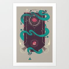 The Monster Art Print by Hector Mansilla - $18.00