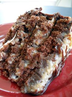 The best  German chocolate cake ever!.