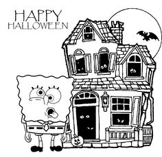 Halloween Spongebob Coloring Pages from SpongeBob Coloring Pages. Here are a lot of funny coloring pictures from Spongebob to print and color in. A large collection of Spongebob pictures is delighted not only by chil. Pj Masks Coloring Pages, Shopkins Colouring Pages, Superhero Coloring Pages, Birthday Coloring Pages, Valentine Coloring Pages, Easter Coloring Pages, Coloring Pages For Boys, Cartoon Coloring Pages, Christmas Coloring Pages