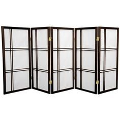 Red Lantern Black Paper Folding Indoor Privacy Screen at Lowe's. This three foot tall folding screen adapts a traditional Japanese design for the modern home. Shoji rice paper, valued for its beauty and lightweight Bamboo Room Divider, 4 Panel Room Divider, Sliding Room Dividers, Home Depot, Decorative Room Dividers, Shoji Screen, Oriental Furniture, Red Lantern, Paper Folding