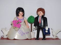 PLAYMOBIL PAREJA DE NOVIOS - REGALAR Y ADORNA TARTAS DE BODA - BRIDE AND GROOM