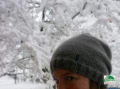 #Hurra es hat #geschneit! neues schmeichelweiches #Cashmere-#Beanie im schönsten soften #Grau... passt einfach himmlisch zum heutigen #Wetter!