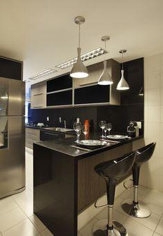 Cozinha, lustres, balcão, caldeiras, cor,                                                                                                                                                      Mais
