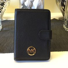 Michael kors passport wallet pebbled leather One size black brand new with tags 100% authentic Michael Kors Bags Wallets
