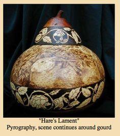 Pyrography as Art...  http://www.jragourdart.com