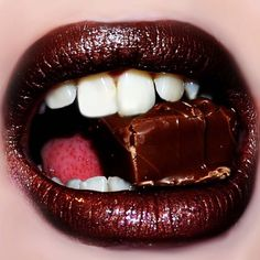 My lips like sugar. by FfiTheTrtle on DeviantArt Chocolate Lipstick, Beauty Tips And Secrets, Candy Lips, Love Lips, Brown Lipstick, Beautiful Lips, Lip Art, Best Face Products, Beauty Products
