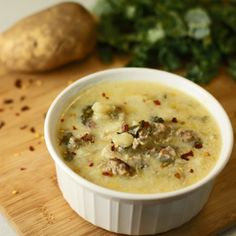Love Olive Garden Zuppa Toscana soup with sausage, potatoes and kale? This is the recipe and it's easy!