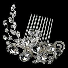 Affordable Elegance Bridal - Multi Cut Rhinestone Swirl Vine Wedding Comb, $93.99 (http://www.affordableelegancebridal.com/multi-cut-rhinestone-swirl-vine-wedding-comb/)