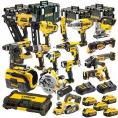 LXT Brushless Kit Hammer Driver Drill/ Impact Driver/ Recipro Saw/ Circ Saw /Grinder Flashlight Dewalt Power Tools, Makita Tools, Dewalt Battery Tools, Kreg Tools, Cool Tools, Diy Tools, Dewalt Tough System, Garage Atelier, Yard Tools