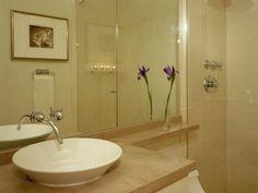 small but glass shower doors help.