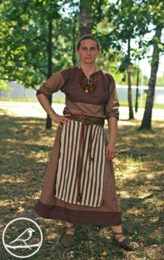 Slavic linen dress