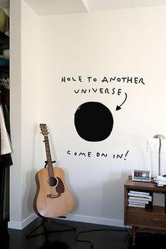 """Hole to another universe, come on in!"" This would be a wonderful imagination piece to put in a child's bedroom."