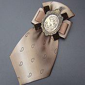 """Брошь-орден из репсовых лент """"железная леди"""" - брошь,брошь-орден,женский галстук"""